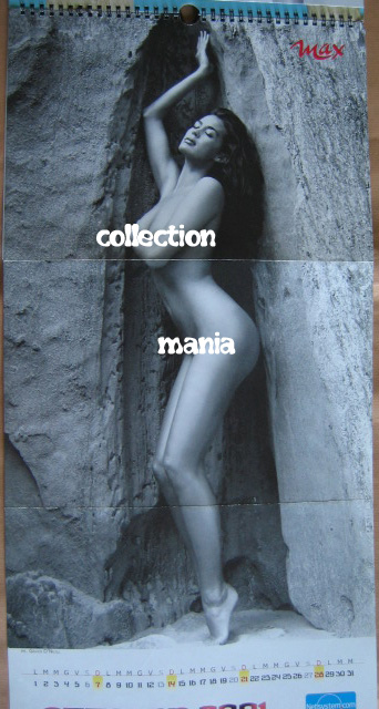 Calendar Sexy Megan Gale Nude Calendario 2001 Max Italy